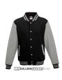 Kids 2-Tone College Sweatjacket Black/Grey