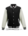 Kids 2-Tone College Sweatjacket Black/White