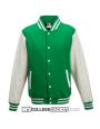 Kids 2-Tone College Sweatjacket green/white