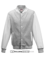 Kids 2-Tone College Sweatjacket Grey/White