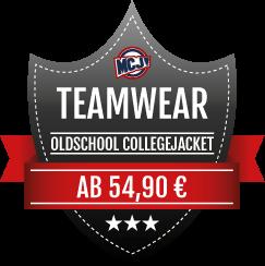 Teamwear Angebot Oldschool Collegejackets