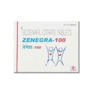 Zenegra : Sildenafil 100 mg Tablet 8'S