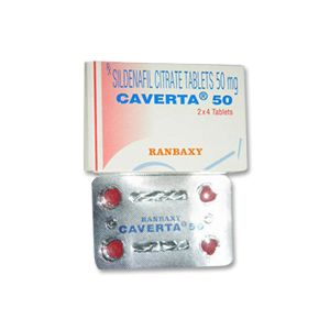 Caverta Sildenafil 50 mg Tablets
