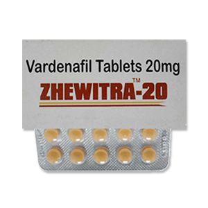 Zhewitra 20 mg Vardenafil Tablet