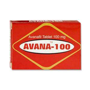Avana : Avanafil 100 mg Tablet 4'S