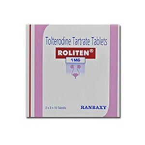 Roliten Tolterodine 1mg Tablets