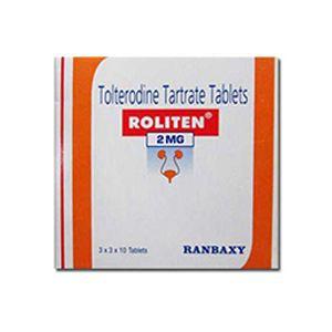 Roliten Tolterodine 2mg Tablets