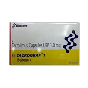 Tacrograf Tacrolimus 1mg Capsules