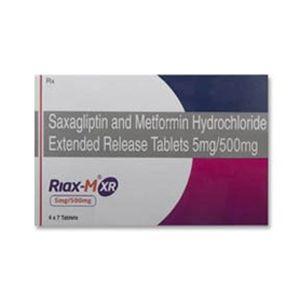 Riax M XR 5/500 Saxagliptin & Metformin Tablet