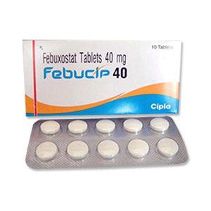Febucip Febuxostat 40mg Tablet