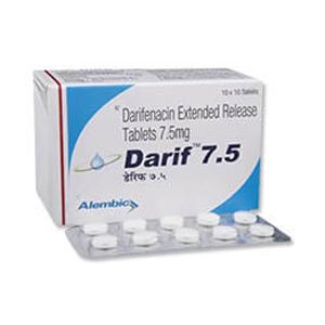 Darif Darifenacin 7.5mg Tablet