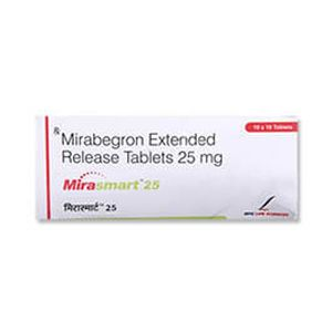Mirasmart Mirabegron 25mg Tablet