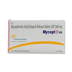 Mycept-S Mycophenolate 360mg Tablet