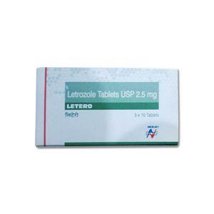 Letero Letrozole 2.5mg Tablet