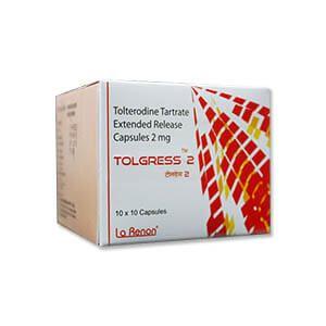 Tolgress Tolterodine 2mg Capsule