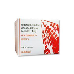 Tolgress Tolterodine 4mg Capsule