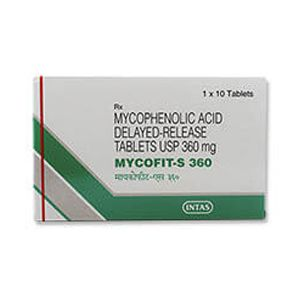 Mycofit-S Mycophenolate 360mg Tablet
