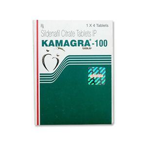 Kamagra Gold : Sildenafil Citrate 100 mg Tablet 4'S