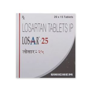 Losar Losartan 25mg Tablet