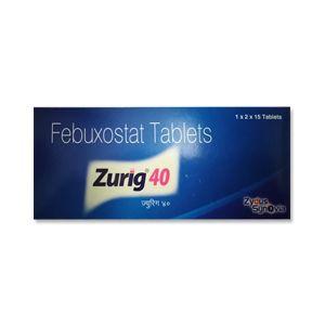 Zurig Febuxostat 40mg Tablet