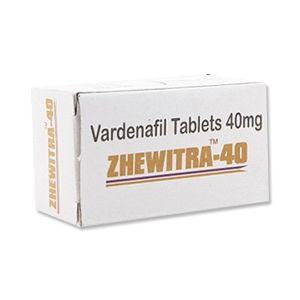 Zhewitra 40mg Vardenafil Tablets