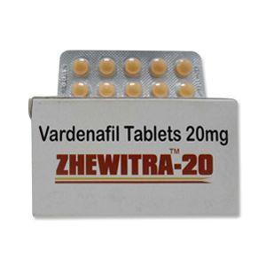 Zhewitra 20mg Vardenafil Tablets