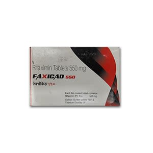 Faxicad 550mg Rifaximin Tablet