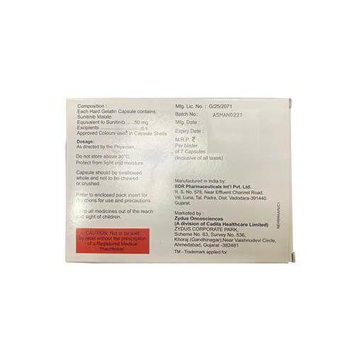 Nitnib Sunitinib 50 mg Capsule