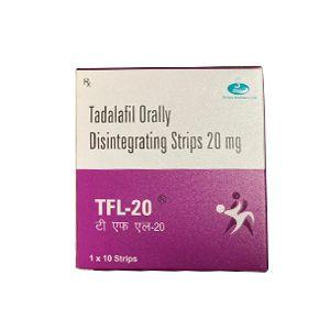 Tfl-20 Tadalafil 20mg Orally Disintegrating Strips