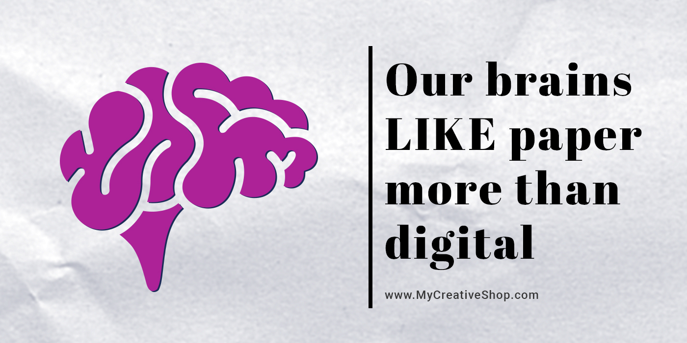 our brains like paper