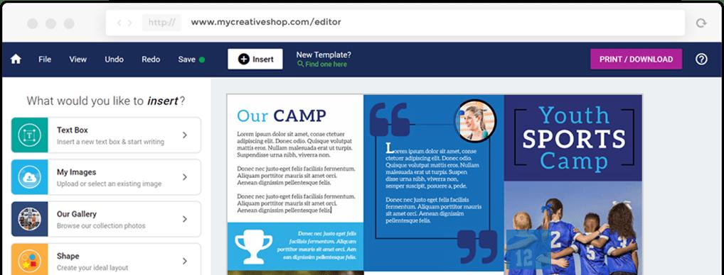 MyCreativeShop Brochure Design Software
