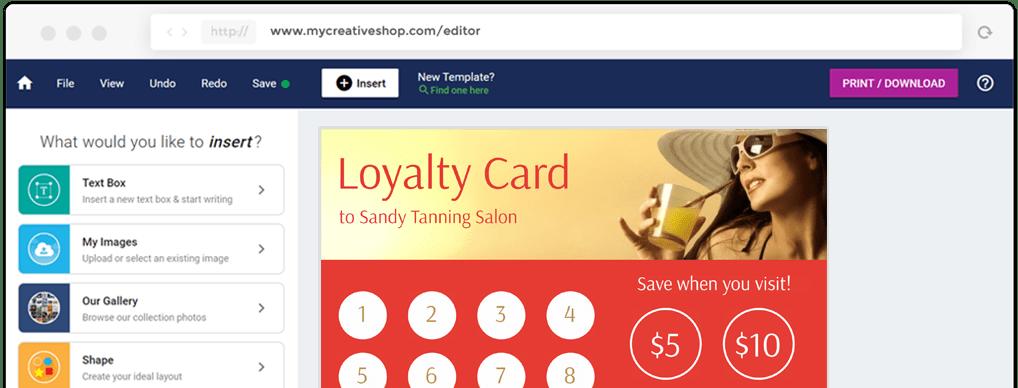 MyCreativeShop Loyalty Card Design Software