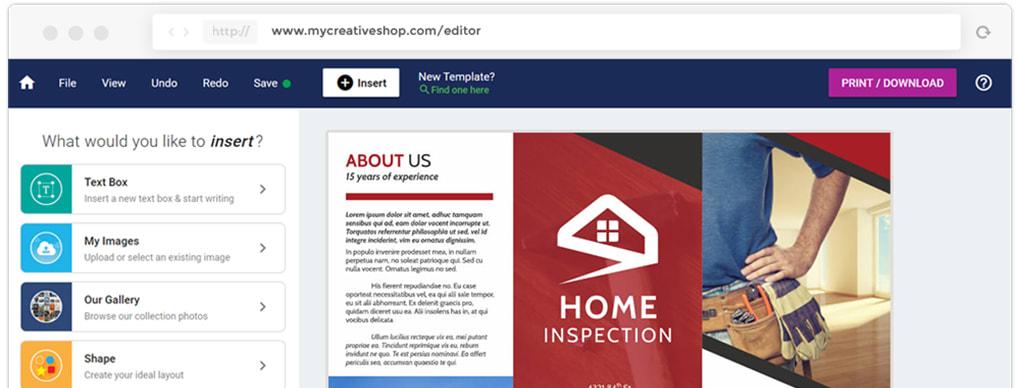 MyCreativeShop Pamphlet Design Software