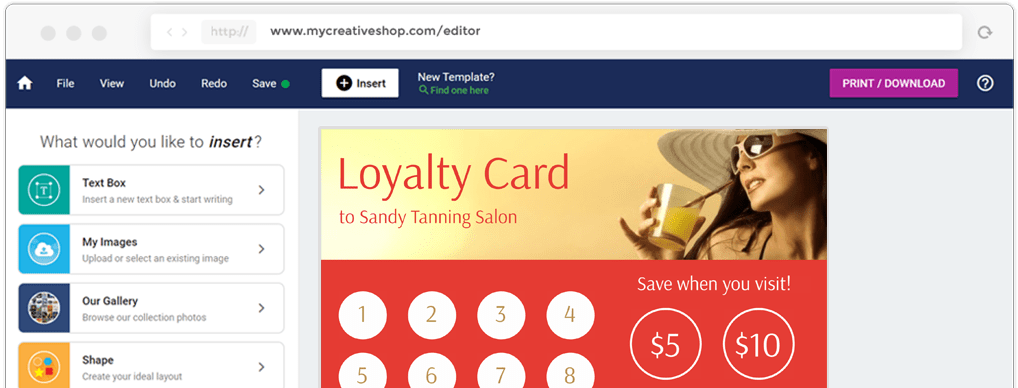 Loyalty Card Maker Create Loyalty Cards At Mycreativeshop