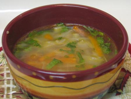 carrot cabbage soup