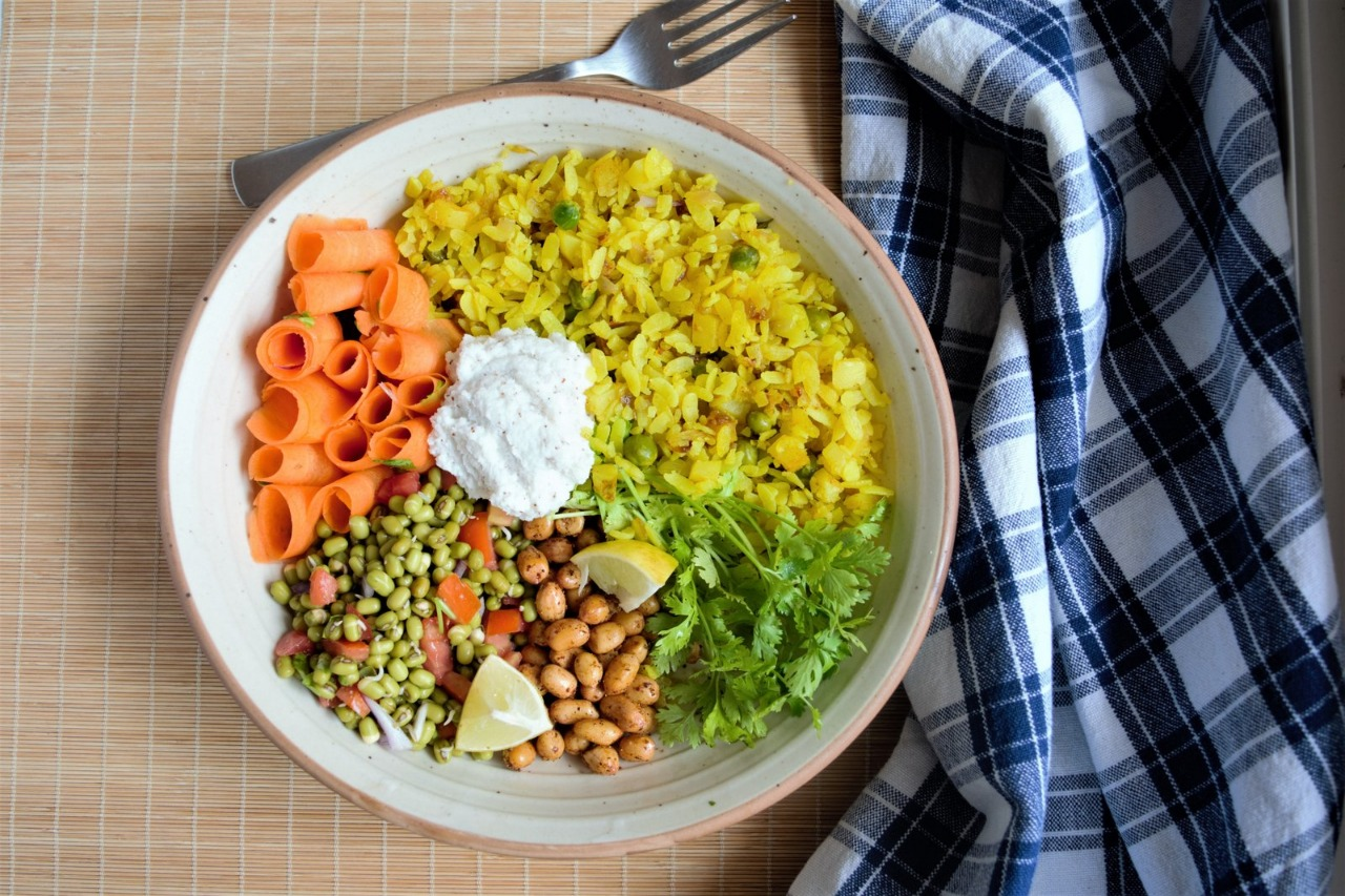 Sprouts Poha Ingredients