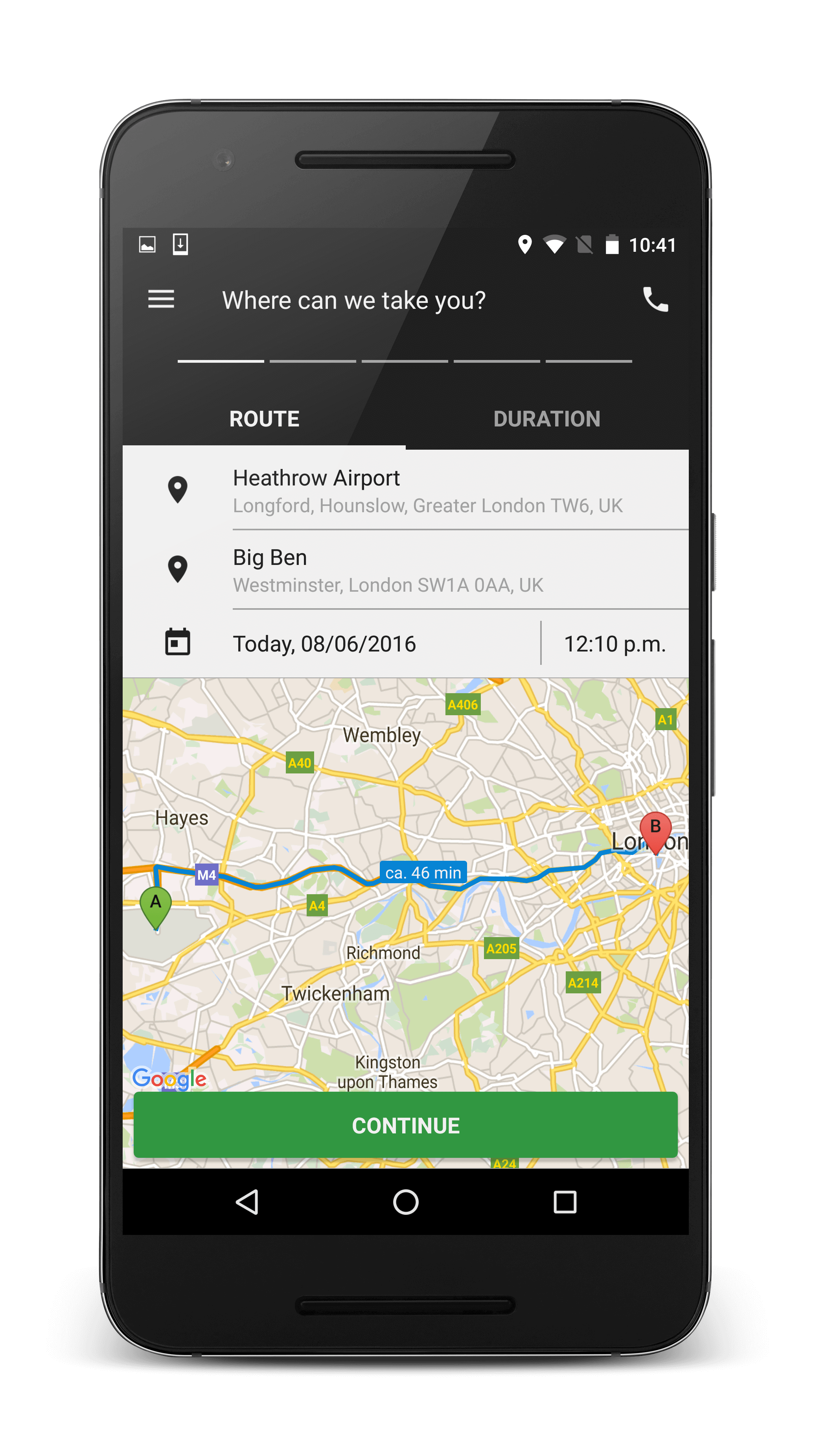 Airport Transfer Android App | Shuttle App Downoad | myDriver