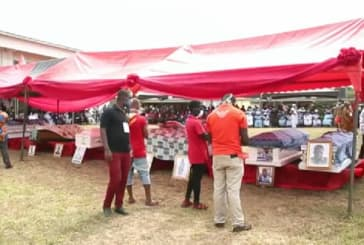 Tears flow as 12 teenagers get mass burial at Apam after disaster