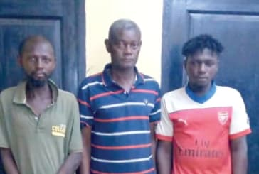 3 suspects grabbed with human parts