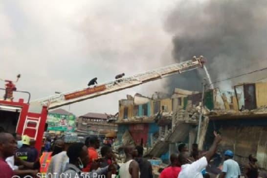 Fire destroys over 30 shops at Aboabo station