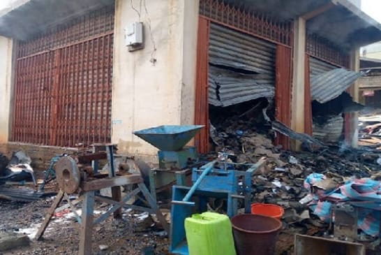 Another fire guts warehouse at Suame Magazine