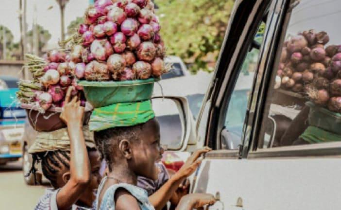 Children vending on the streets amid school closure