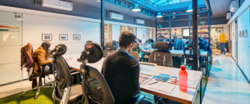 workspace provided by myHQ in Central Delhi