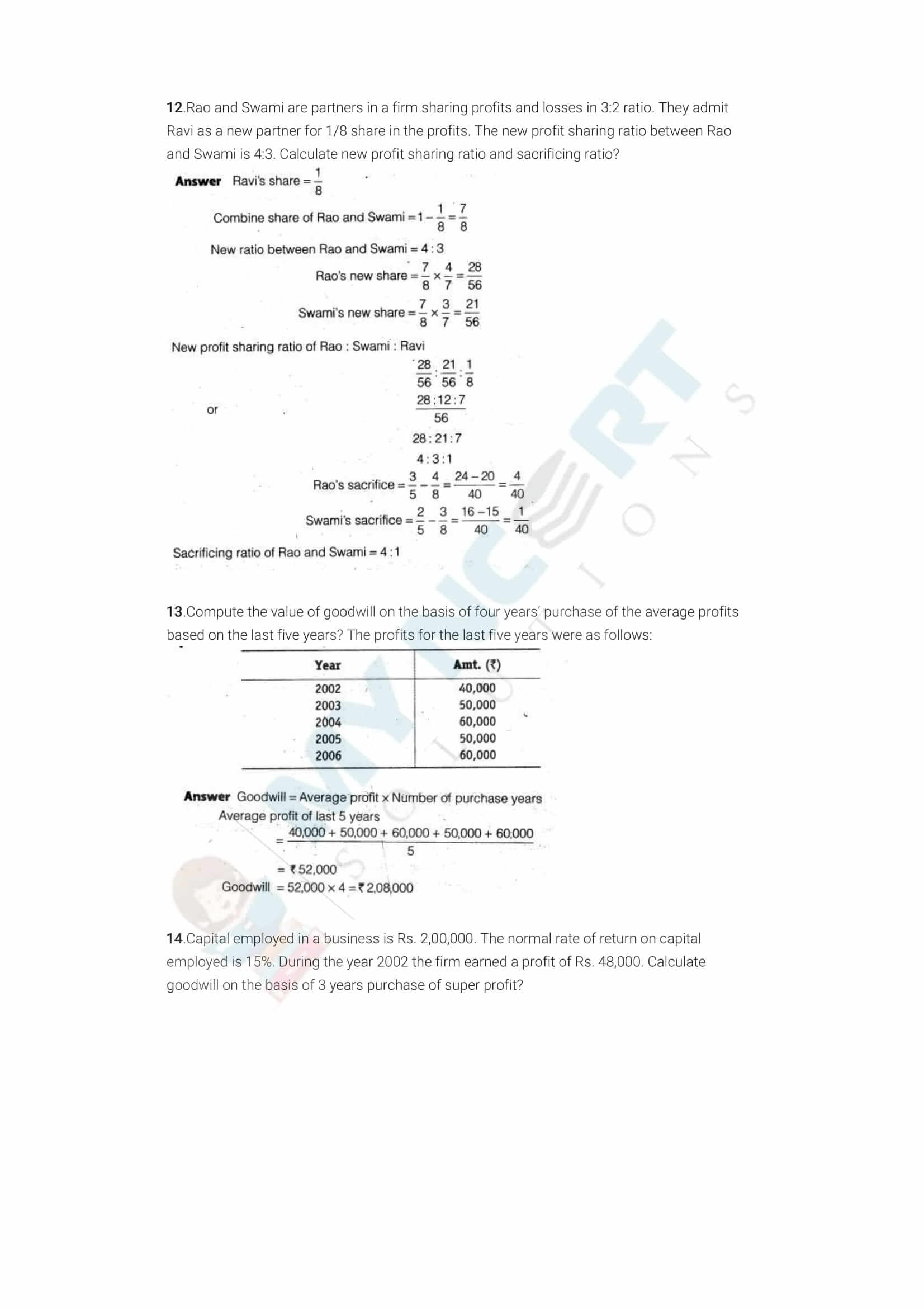 ncert solutions class 12 accountancy part 1 chapter 3 reconstitution of a partnership firm admission of a partner 02