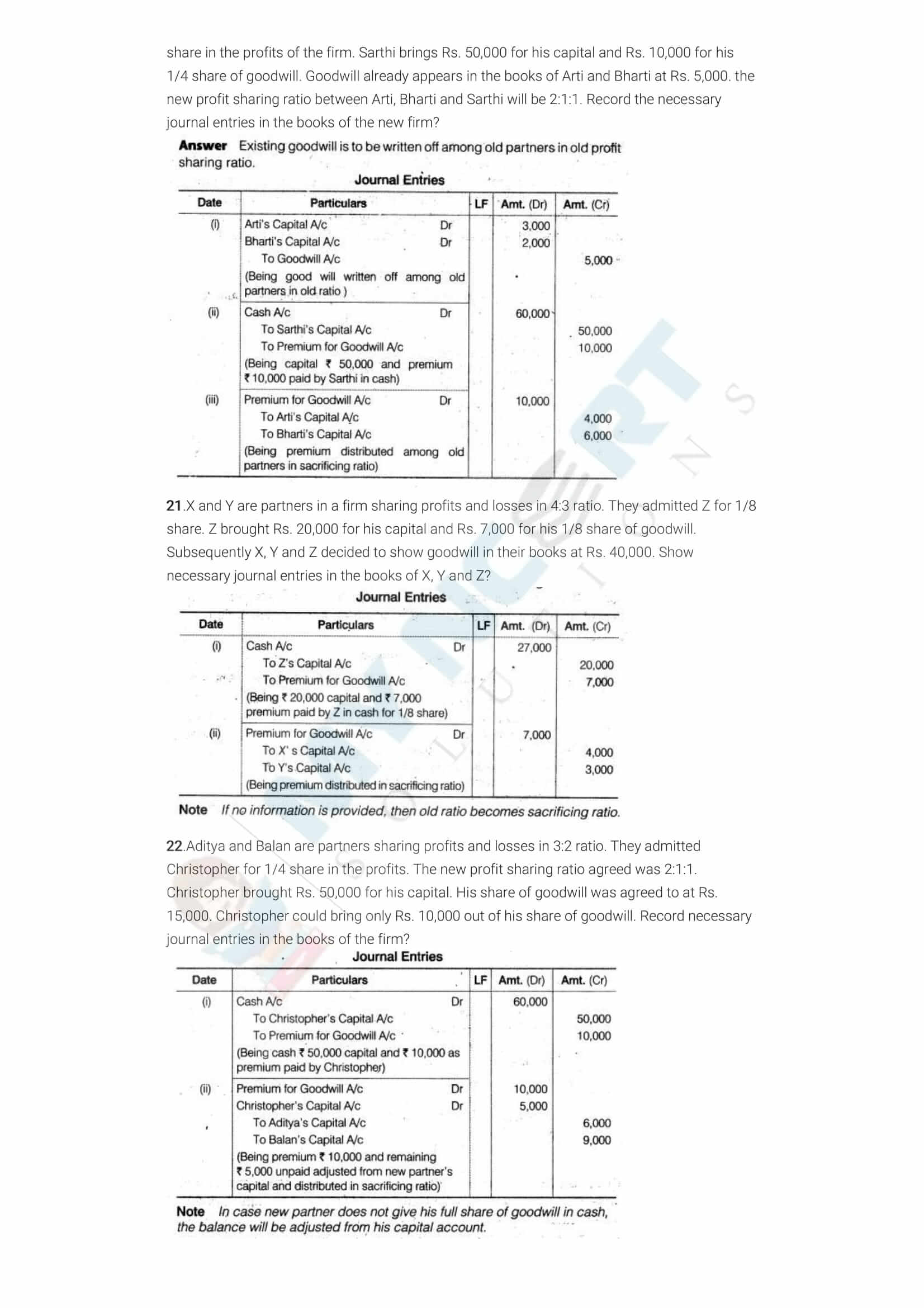 ncert solutions class 12 accountancy part 1 chapter 3 reconstitution of a partnership firm admission of a partner 05