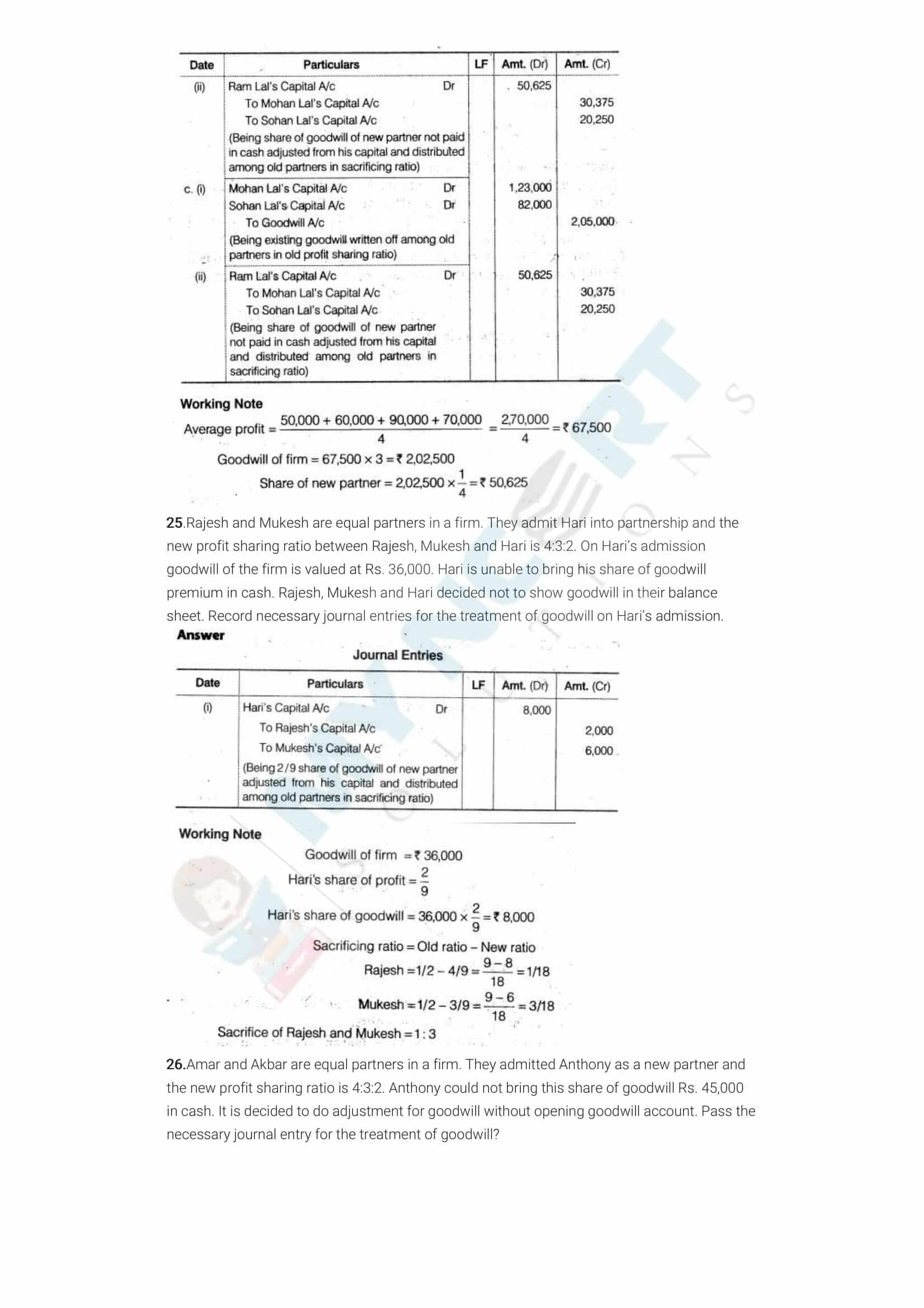ncert solutions class 12 accountancy part 1 chapter 3 reconstitution of a partnership firm admission of a partner 07