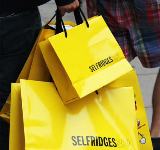 32e24106d6891 The British chain of luxury department store Selfridges recently announced  that it is launching an initiative to produce their landmark yellow bags  from ...