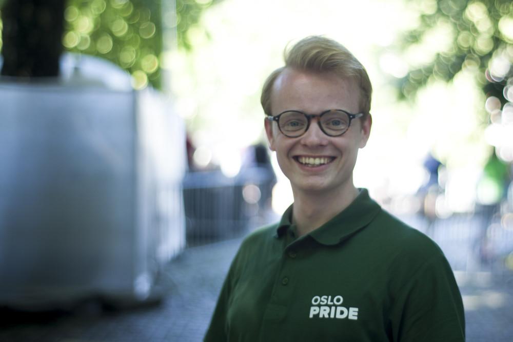 Styreleder i Oslo Pride, Fredrik Dreyer (Foto: Even Blomsnes Solheim/ Oslo Pride)